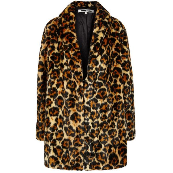 98c868284ca1 McQ Alexander McQueen Leopard-print Faux Fur Coat ($740) ❤ liked on Polyvore