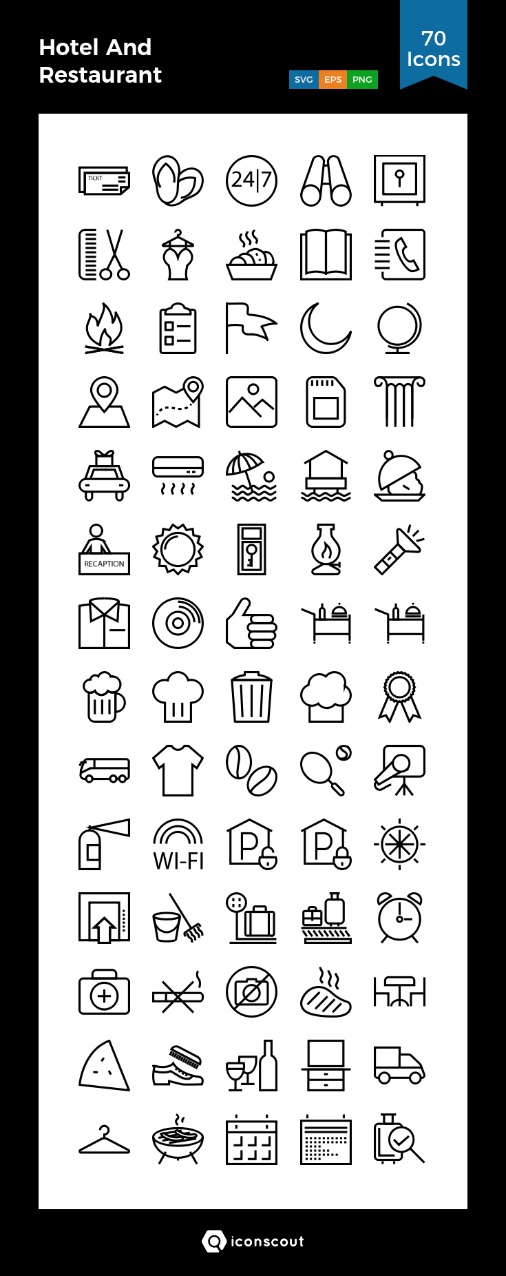 Download Hotel And Restaurant Icon Pack Available In Svg Png Eps Ai Icon Fonts Restaurant Icon Icon Pack Icon