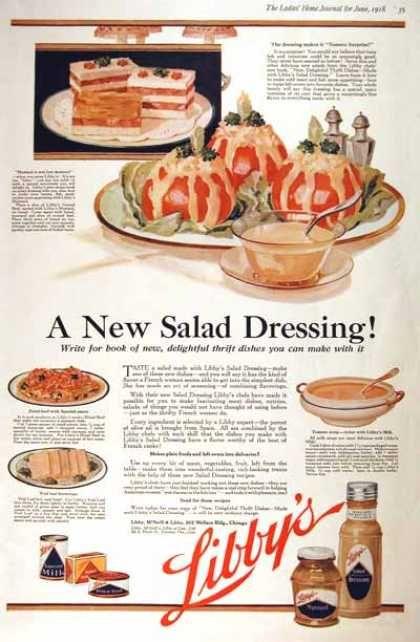 Libby's Salad Dressing (1918) vintage food advertisements