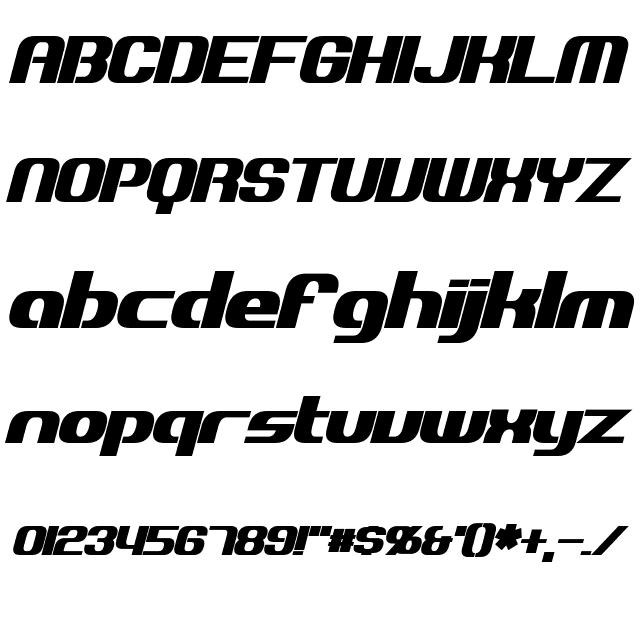 Explorien Bold Italic Font
