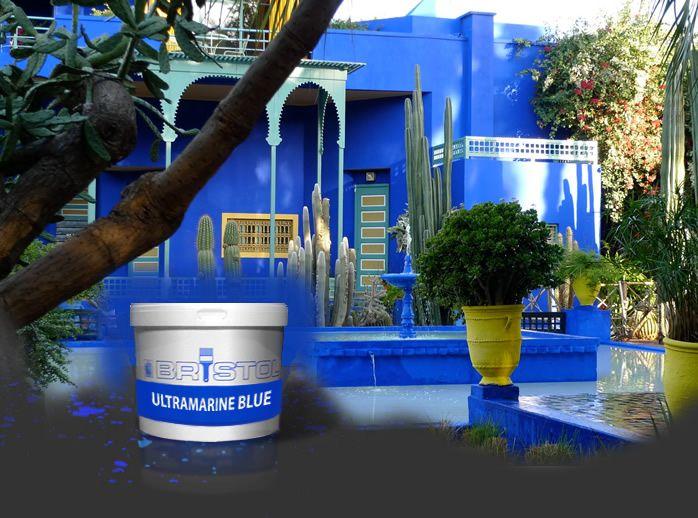 Majorelle Blue Ultramarine Blue Bristol Paint Moroccan