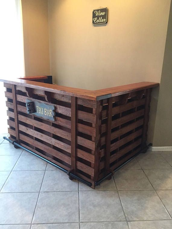 Pallet Bar / Tiki Bar •• Fall Sale •• Custom Designed For Your Home ...