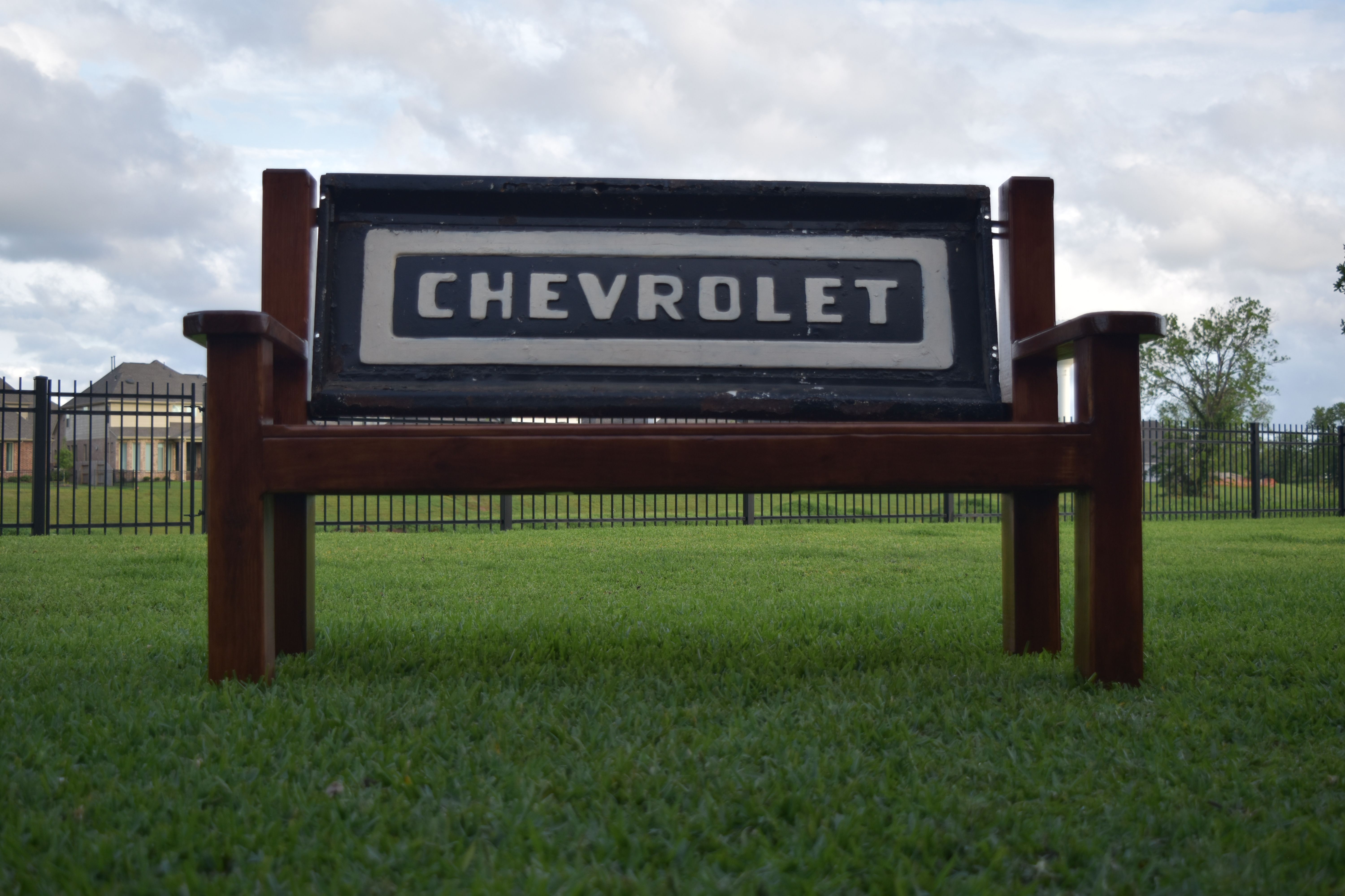 Custom Chevy Tailgate Bench by RedMerle Designs in Houston Texas ...