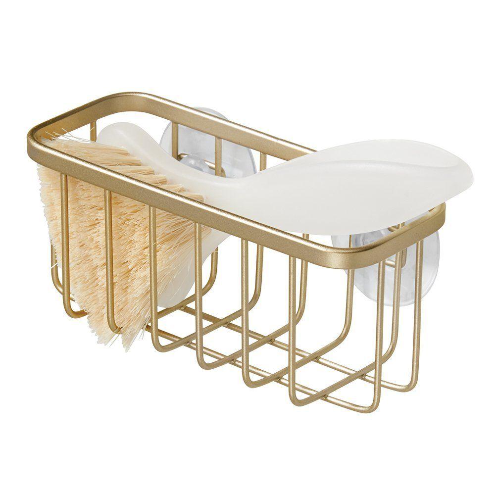 Amazon.com: InterDesign Gia Kitchen Sink Suction Holder for Sponges ...