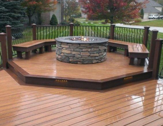 Top 50 Best Deck Fire Pit Ideas - Wood Safe Designs -  Top 50 Best Deck Fire Pit Ideas – Wood Safe Designs  - #deck #Designs #fire #firepitideas #ideas #pit #Pregnancygoals #preparingforPregnancy #Safe #Top #wood