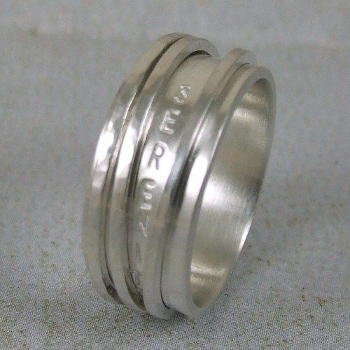 Serenity Prayer Ring In Sterling Silver Spinner Ring Says Courage Wisdom Serenity And The Silver Rings Spin Spinner Rings Sterling Silver Rings Rings