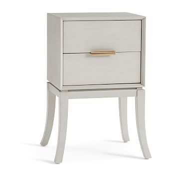 Leah Polished Nightstand Dusk Gray In 2019 Master