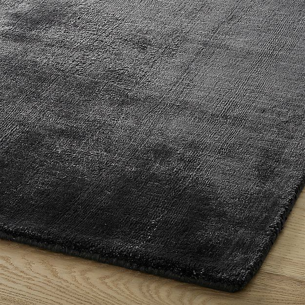 Posh Anthracite Rug 8'x10' CB2 Rugs, Ribbon embroidery