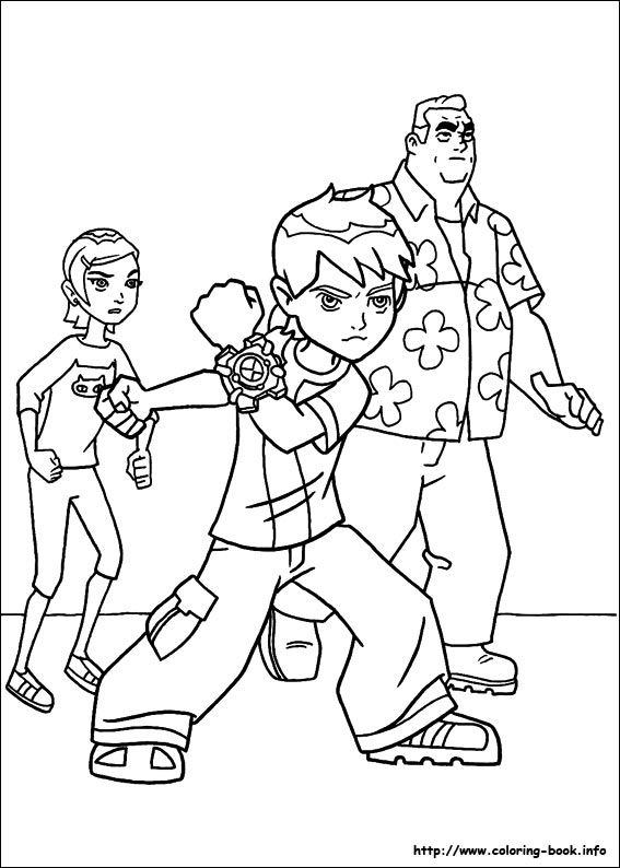 Ben 10 Coloring Picture Free Pages For My Nephew Life Saver Tonight