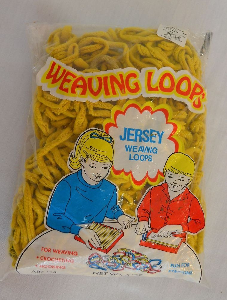 New in Package Yellow 5 oz Unopened Jersey Loops Potholder Weaving Cotton Blend #WoolNoveltyCo