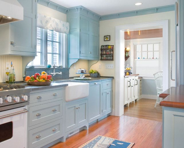 What Color Should You Paint Your Kitchen Cabinets Sound Finish Blog Light Blue Kitchens Cosy Kitchen Blue Kitchen Walls