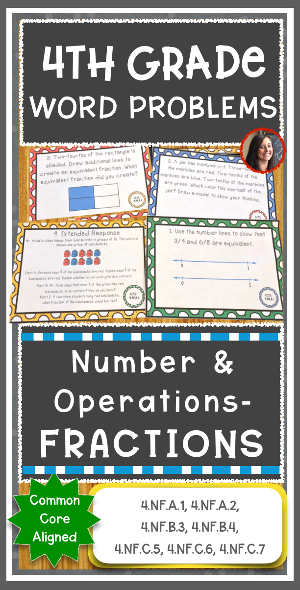 Math Constructed Response Word Problems 4th Fractions Nf Word Problems Math Constructed Response Fractions