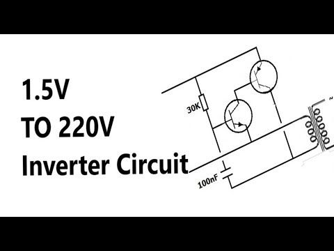 1 5v to 220v inverter circuit explanation youtube circuits rh pinterest com