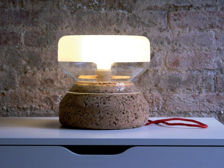 Cork table lamp annexo objectives collection by atipico design