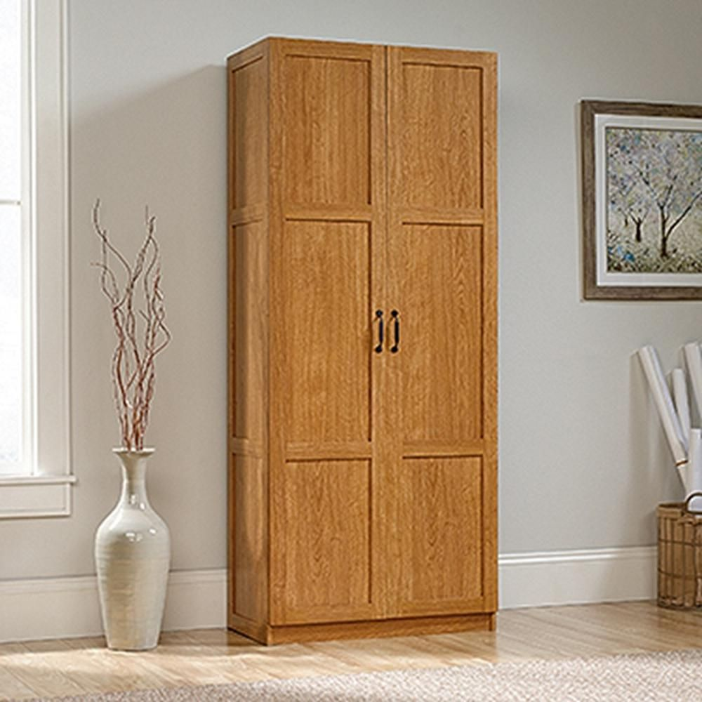 Sauder Woodworking Highland Oak Cabinet Deep Storage Cabinet Sauder Storage Cabinet Wood Storage Cabinets