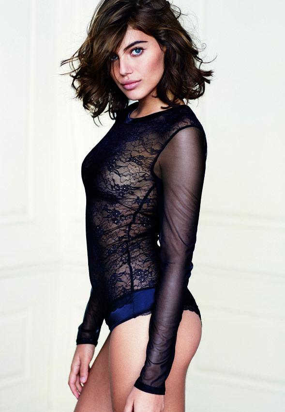 Intimissimi tulle and lace longsleeved bodysuit - a great piece to  incorporate into outerwear 3138fb8735a