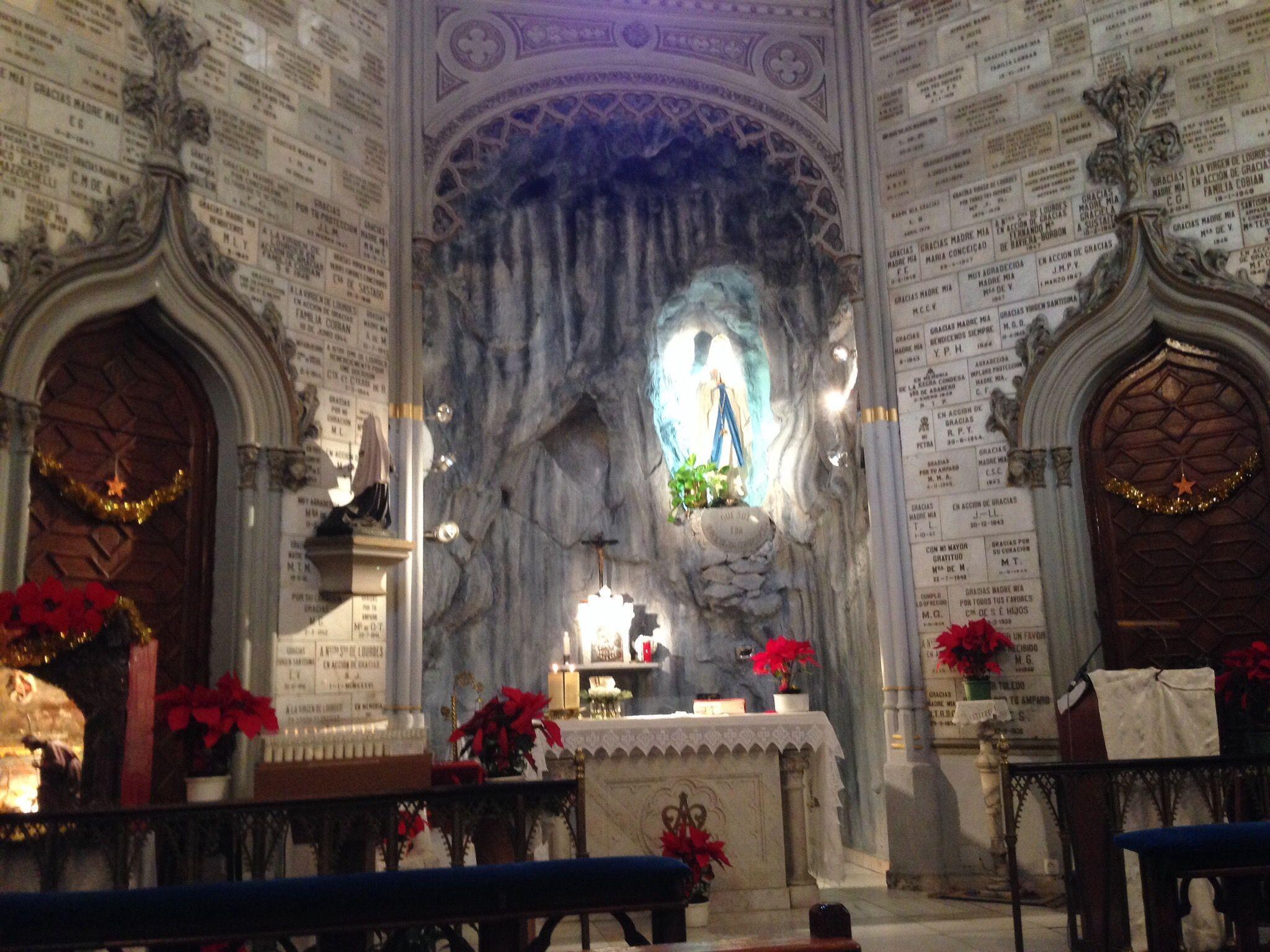 Dia De La Virgen De Lourdes: Oratorio De La Virgen De Lourdes En Madrid. C/Fortuny 21