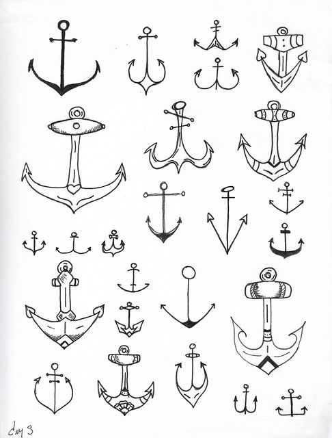 anchor tattoo anyone illustration henna tattoo. Black Bedroom Furniture Sets. Home Design Ideas