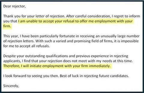 Letter Of Rejection  Hahahaha