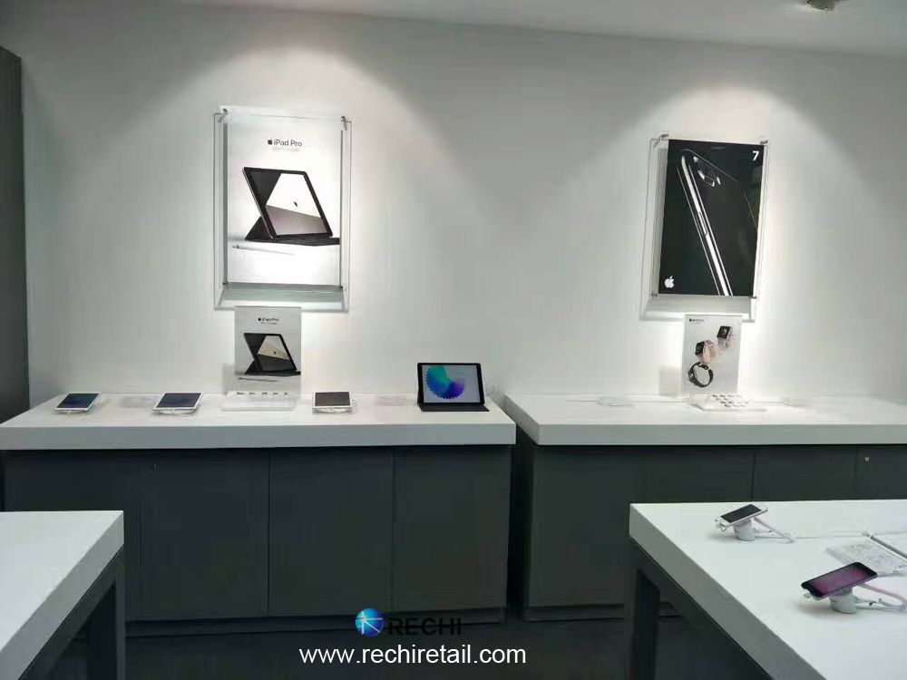 RECHI Retail Visual Merchandising Display Security Solution for Apple Retail Store