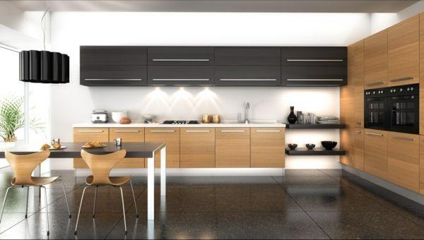 küchenschrank küchenschränke design holz modern esstisch Ideen - kche mit esstisch