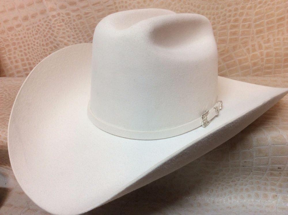 d1243762f296f New Stetson Monarca White 6X Beaver Fur Felt Cowboy Hat  Stetson   CowboyWestern