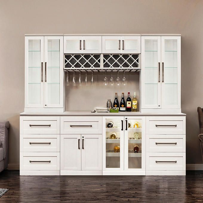 Newage Products Home Bar 9Piece Set White  Буфет  Pinterest  Bar Extraordinary Costco Kitchen Remodel Design Decoration