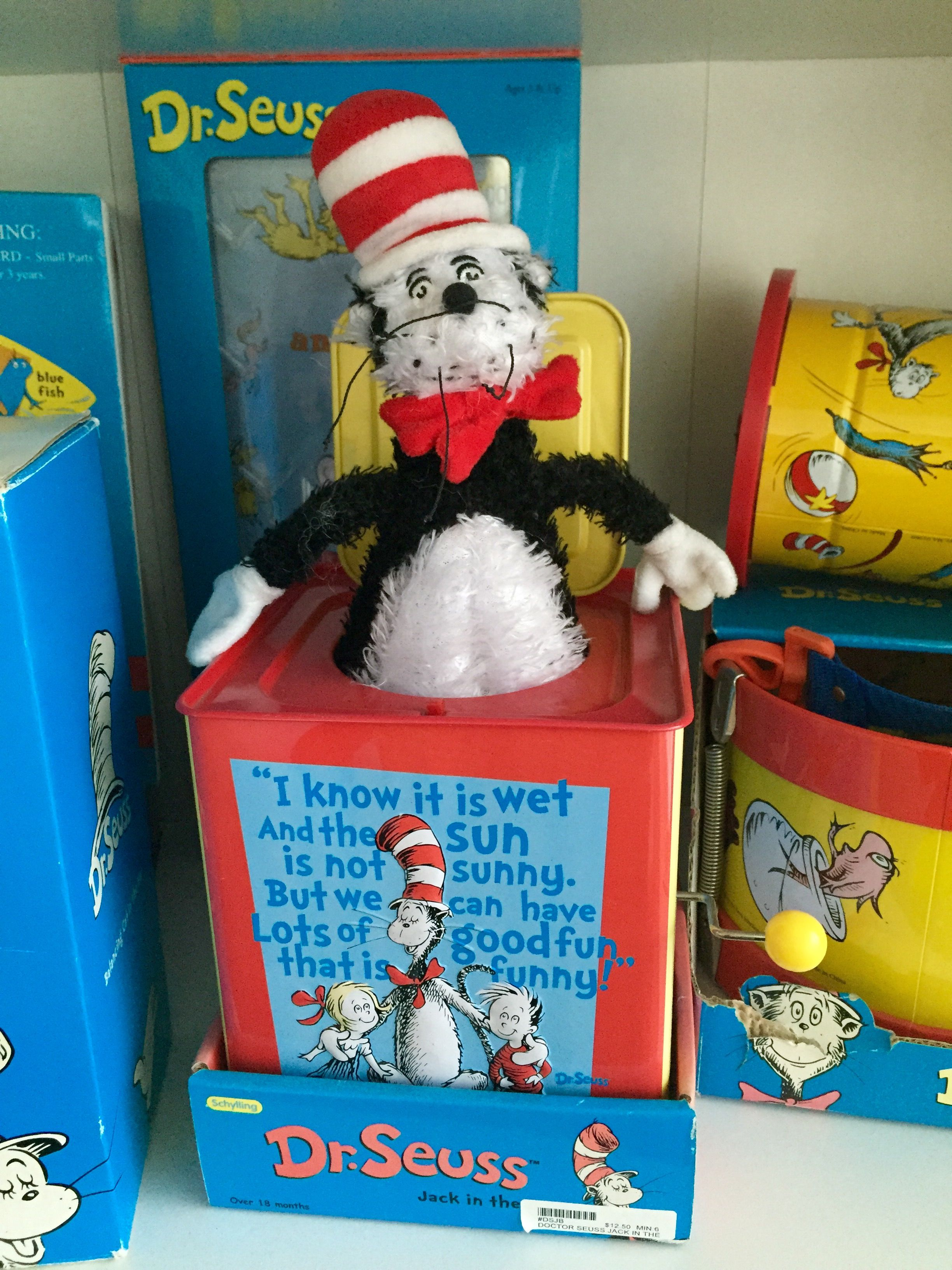 Cat in the Hat Jack in the Box, Schylling 2002 Jack in