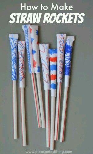Straw rockets
