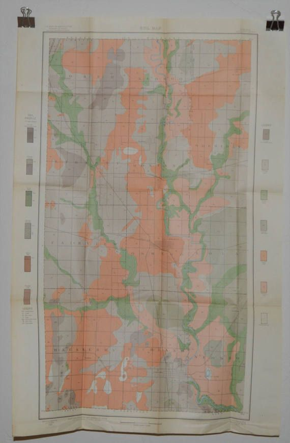 Kansas Map Original Antique Map Map Soil Map Parson - Kansas cities towns map