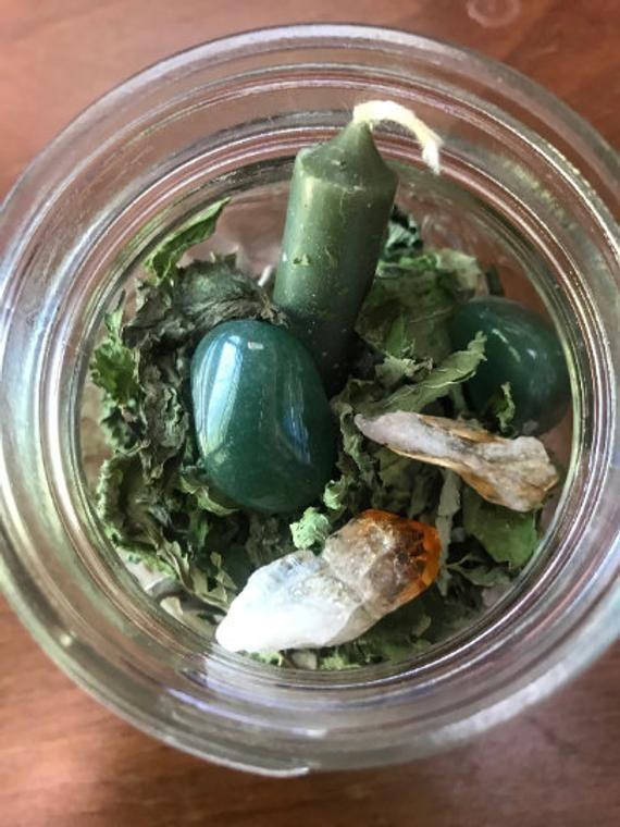 Money Spell Jar Prosperity Spel Abundance Spells Spell Jar Money Abundance Ritual Money Spell Tarot Herbs Herb Spell #moneyspell
