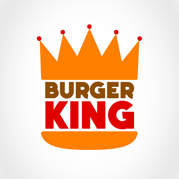 My Redesign Of The Burger King Logo I Did Two Different Font