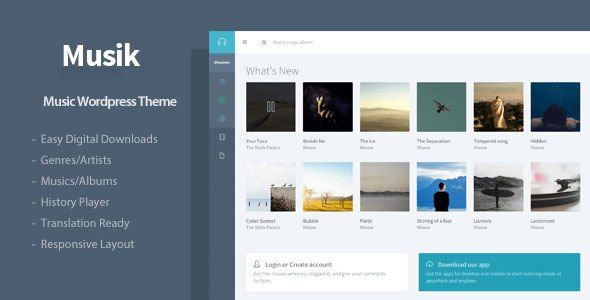 Musik v2. 1. 1 – responsive music wordpress theme nulled download.