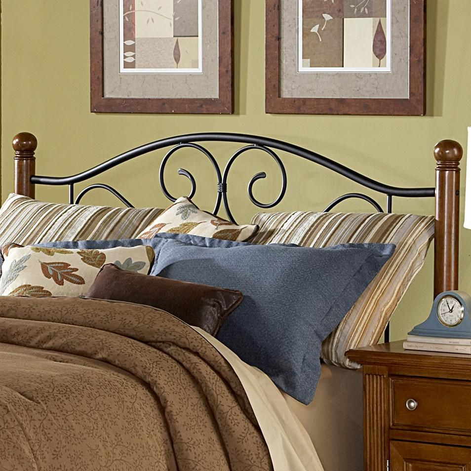 Wood and metal beds queen doral headboard by fashion bed group
