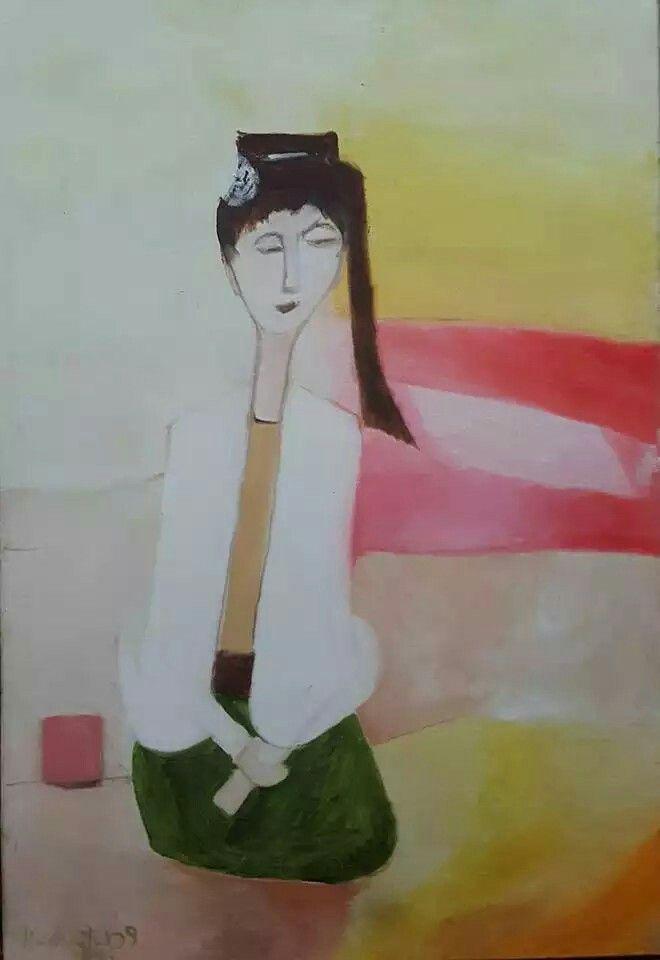 Seated Dancer - Khin Maung Yin