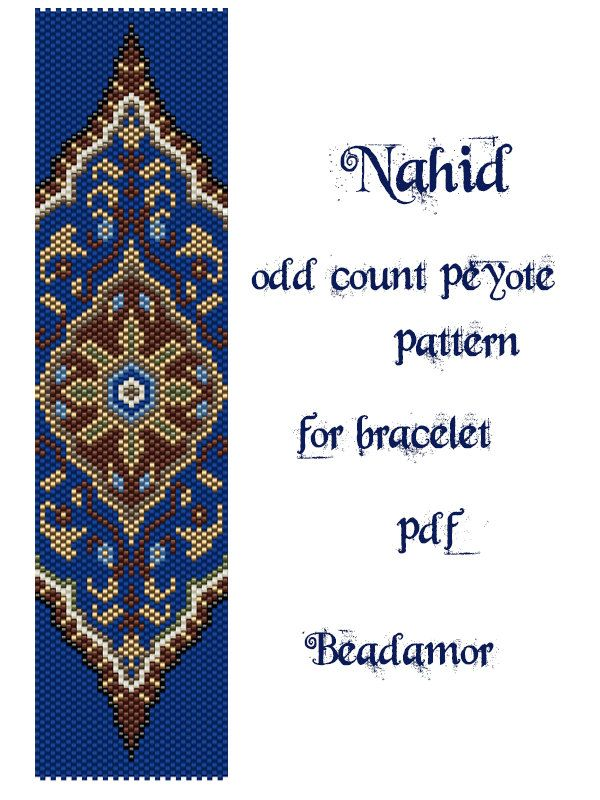 Peyote Pattern for bracelet: Nahid INSTANT DOWNLOAD by Beadamor ...