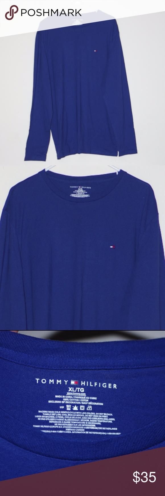 25fec6cee9ee Long Sleeved T Shirts · Unworn Tommy Hilfiger Super Soft Blue Long Sleeve  Unworn Tommy Hilfiger Super Soft Blue Long Sleeve