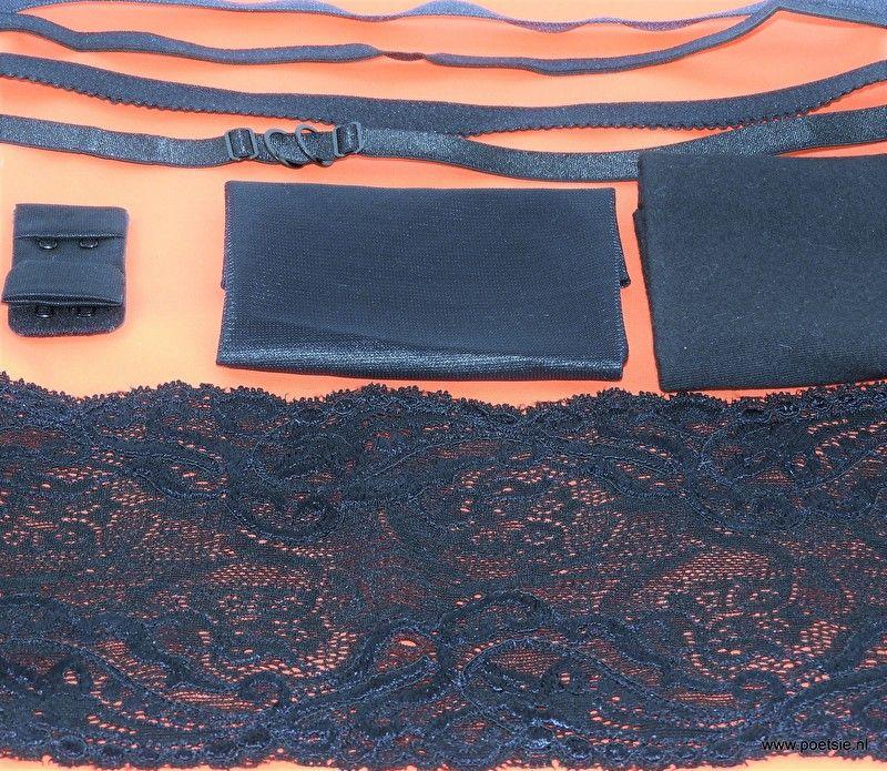 DIY Lingeriepakket 13: oranje met zwarte kant
