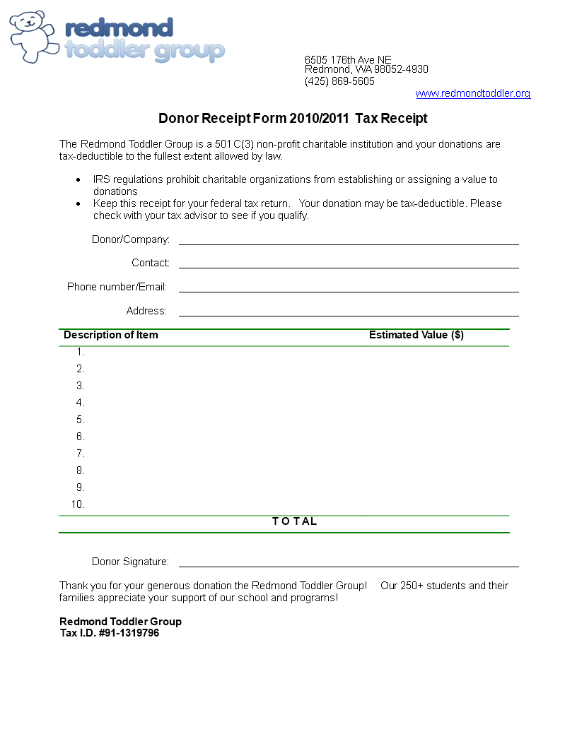 Printable Donor Receipt Form How To Create A Printable Donor Receipt Form Download This Printable Donor Receipt For Templates Charitable Organizations Donor