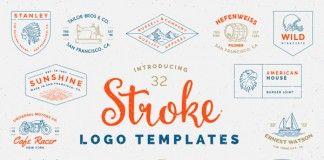 Stroke Logo Templates by Victor Barac