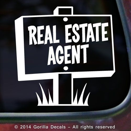 Car decal stickers for real estate agent