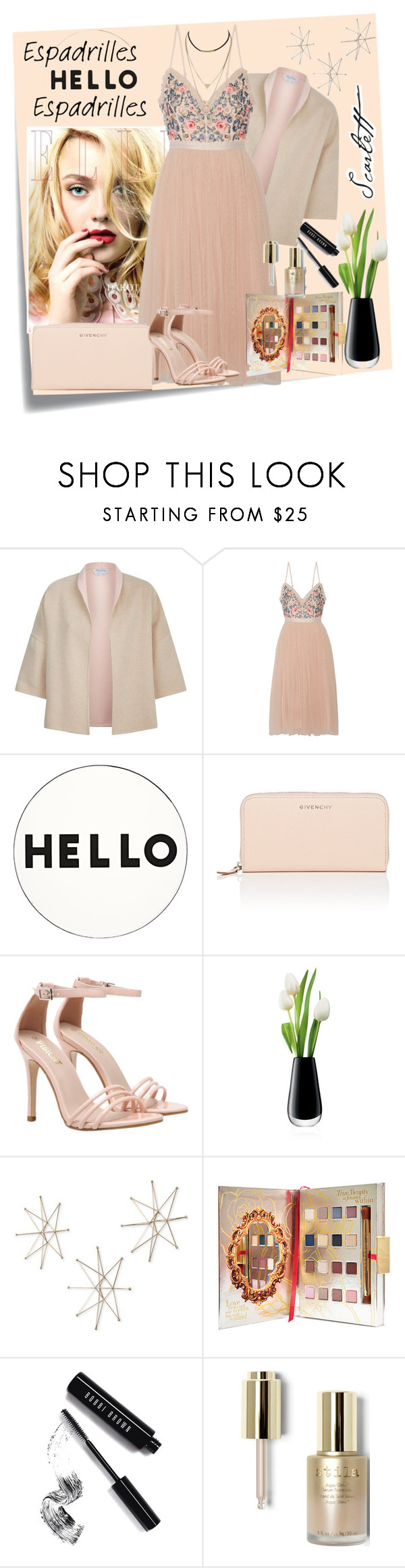 """<3"" by amila-lugavic ❤ liked on Polyvore featuring Post-It, MaxMara, Needle & Thread, Lisa Perry, Givenchy, LSA International, Uttermost, Disney, Bobbi Brown Cosmetics and Stila"