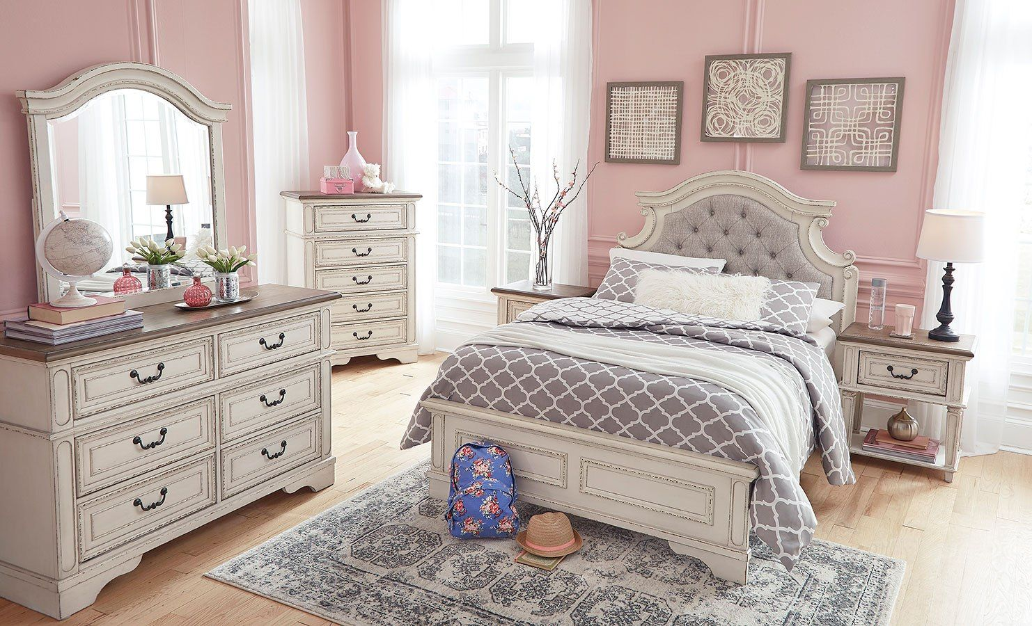 Realyn Youth Panel Bedroom Set  Girls bedroom sets, Bedroom set