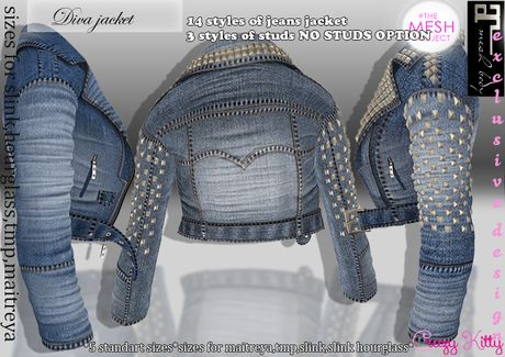 *CK* Diva jacket (mesh bodies sizes included)