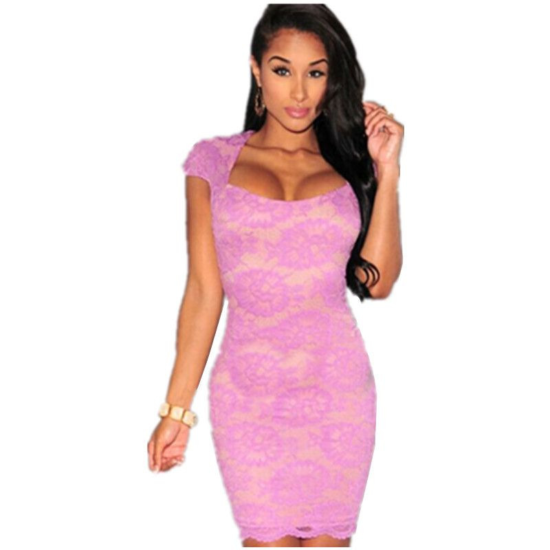 2016 Rushed Plus Size Women's High Quality Dresses Lace Nude Illusion Key-hole Cap Sleeves Dress Lc22094 Sexy Vestido De Verano