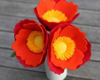 Items similar to Felt Fern Foliage - Felt Flower market on Etsy