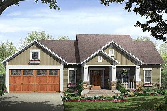 Craftsman Style House Plan 3 Beds 2 Baths 1509 Sq Ft Plan 21 246 Craftsman House Plans Craftsman House Plan Craftsman House
