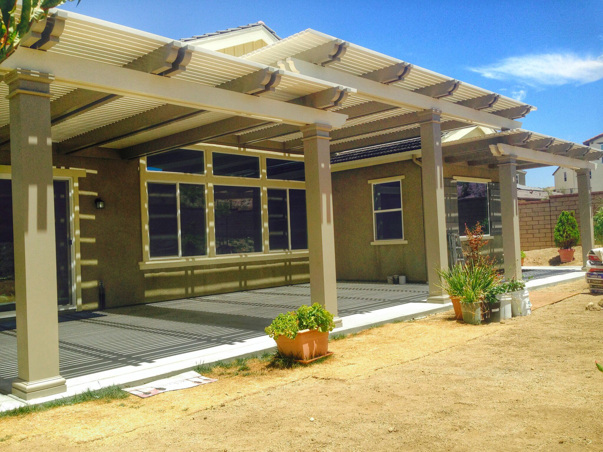 diy alumawood patio cover start to