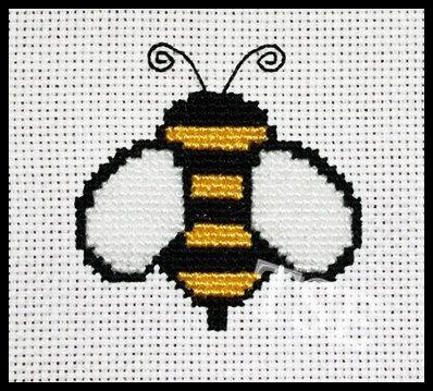Bumble Bee Cross Stitch Printable Pdf Pattern