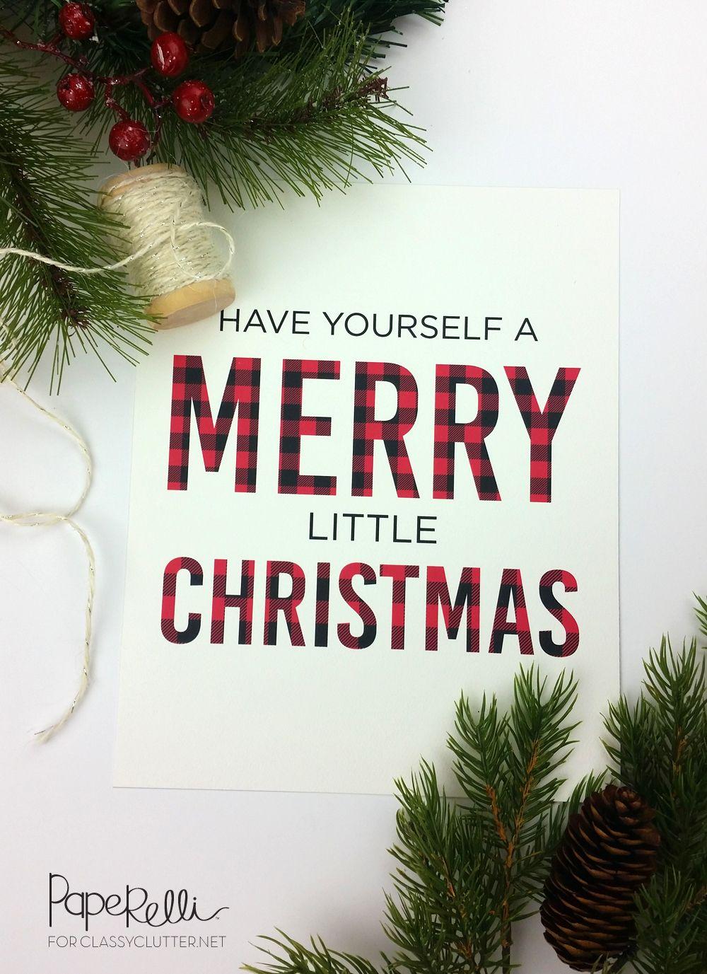Buffalo Check Plaid Christmas Print | Pinterest | Free printable ...